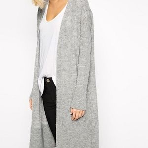 ASOS. River Island. open front cardigan sweater.